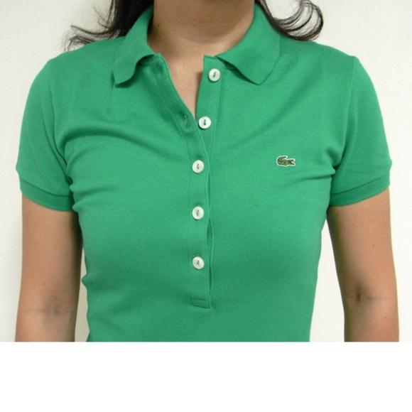 9c35ab5e Lacoste green polo shirt 5 button top emerald 46
